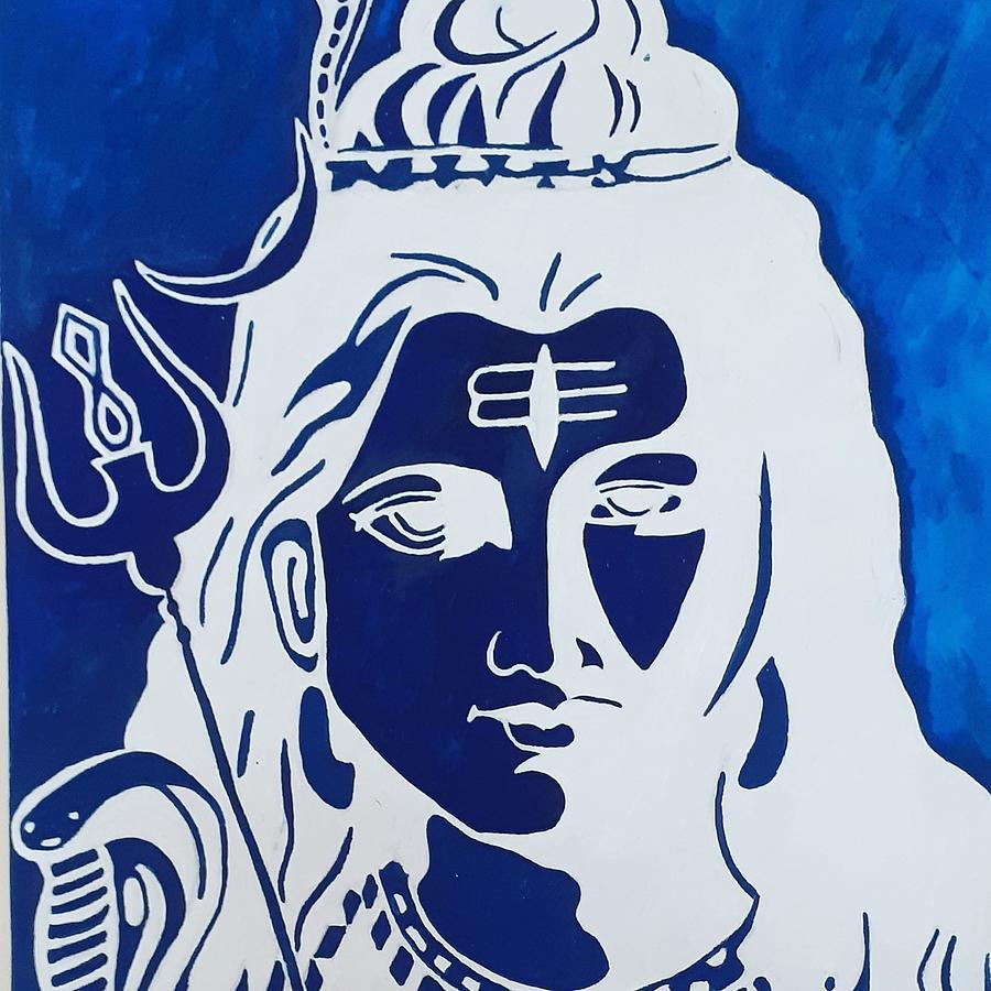 God Shiva Drawing By Arthiga Tharshan