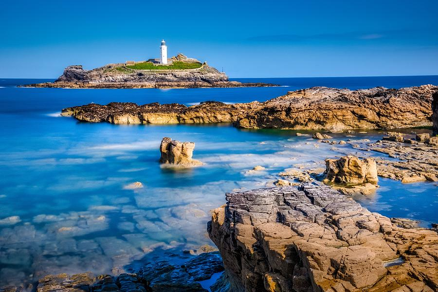 Godrevy Lighthouse Cornwall by Joy of Life Arts Gallery
