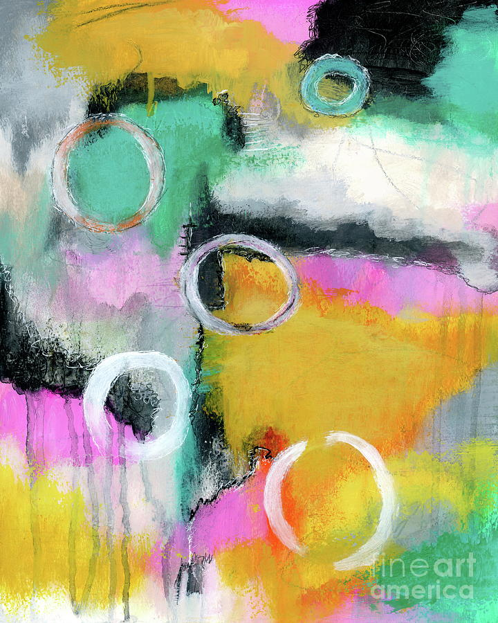 Abstract Expressionist Painting - Going All In Abstract Expressionist Painting by Itaya Lightbourne