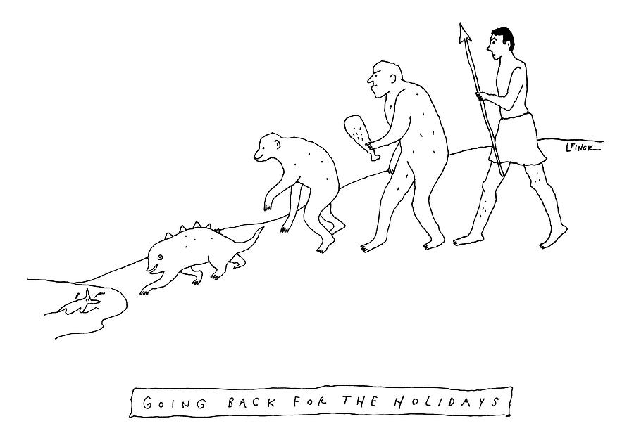 Going Back For The Holidays Drawing by Liana Finck