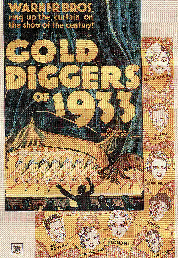 gold Diggers Of 1933, With Ginger Rogers, 1933 Mixed Media