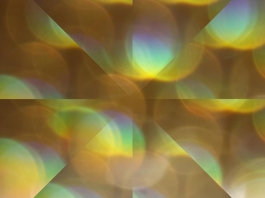 Gold Glitter Mixed Media