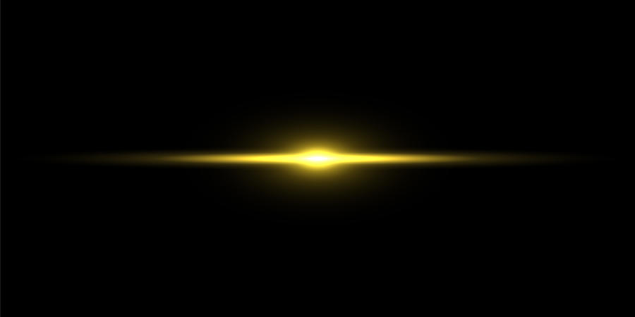 Gold light beam on black background Drawing by Dimitris66