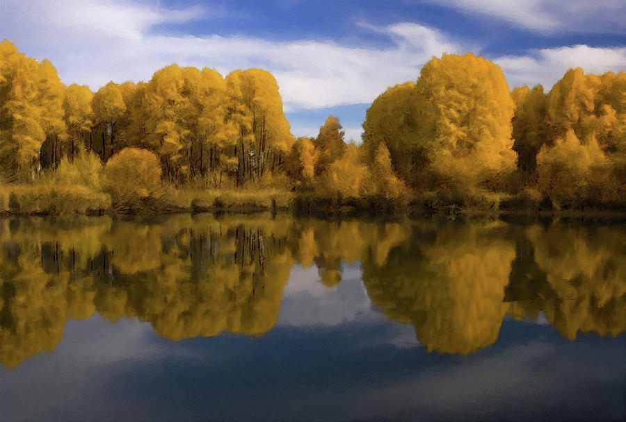 Golden Autumn At The Lake by Movie Poster Prints