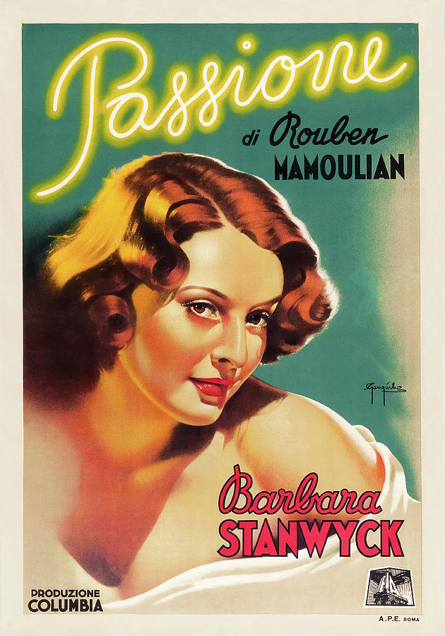 golden Boy, With Barbara Stanwyck, 1939 Mixed Media