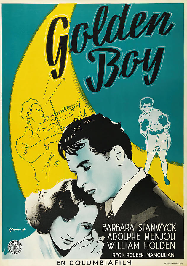 golden Boy, With Barbara Stanwyck And William Holden, 1939 Mixed Media