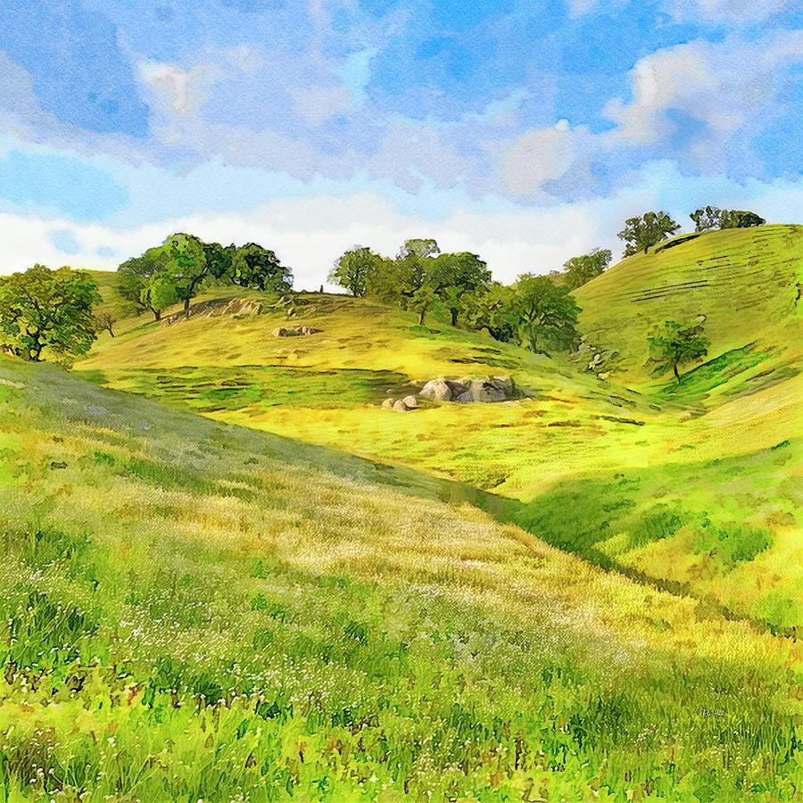 Golden California Hills Painting