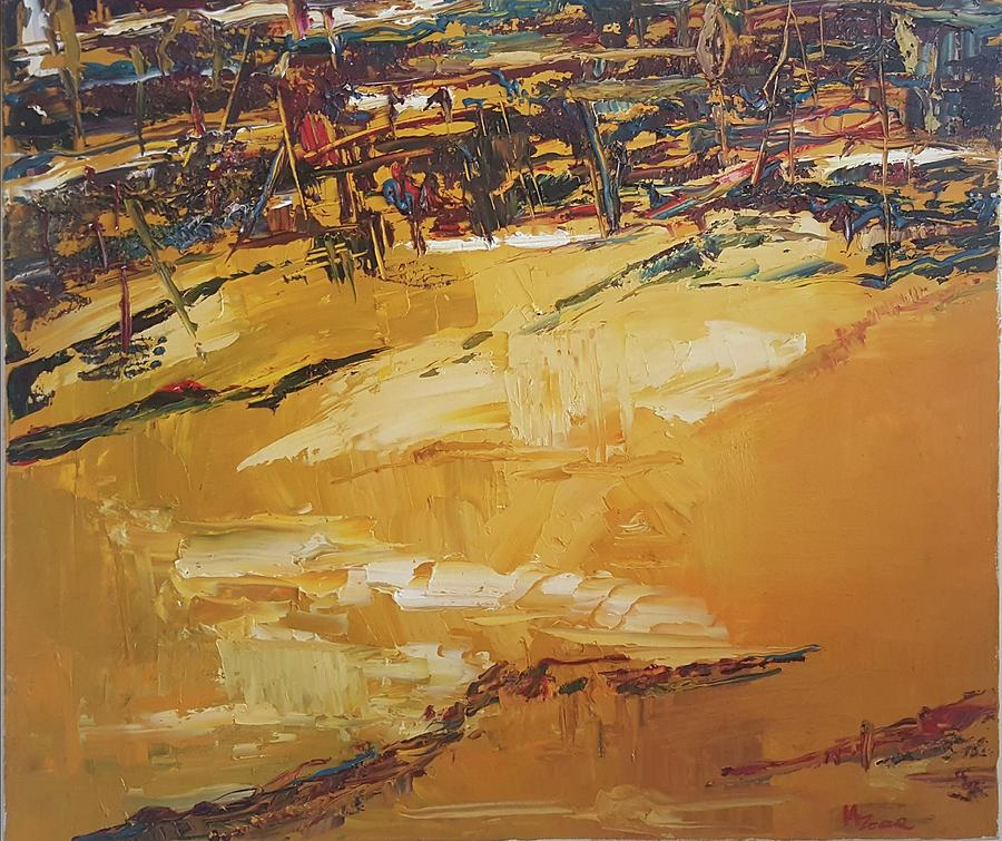 Golden City Painting by Marina Zoar