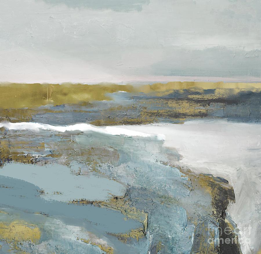 Golden Cliffs Painting