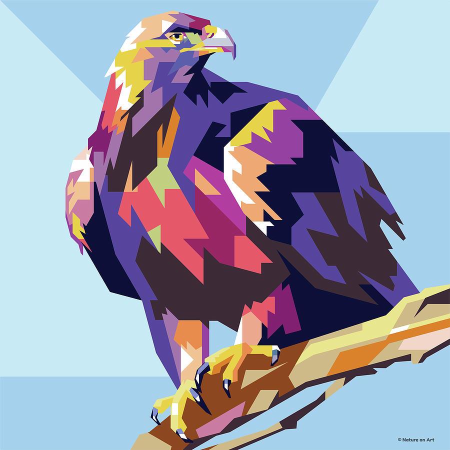 Golden Eagle Digital Art