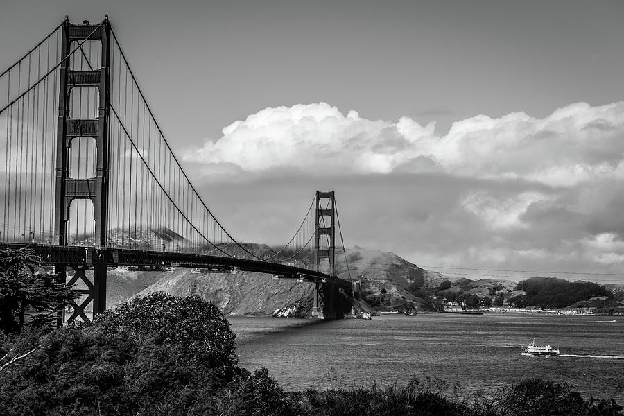 Golden Gate Bridge BW III by James L Bartlett