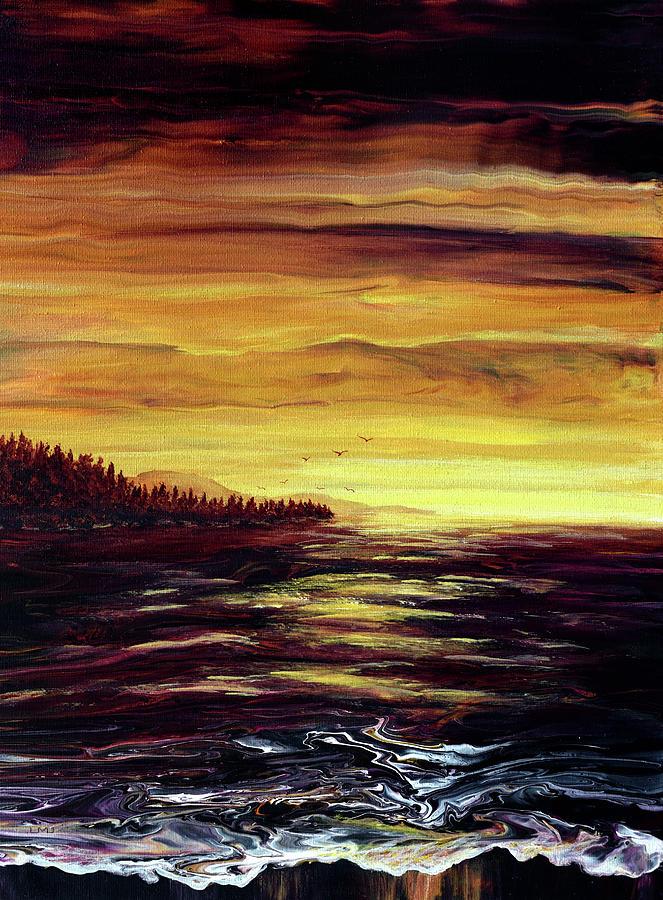 Golden Glow Over Depoe Bay Painting