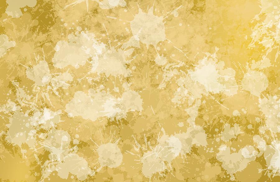 Golden Grunge Stains Fashion. Digital Art
