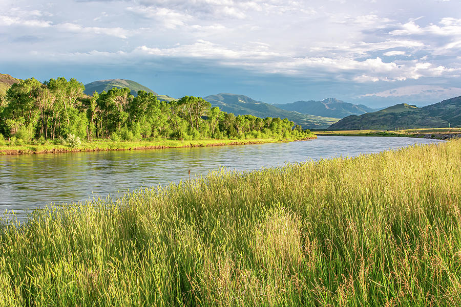 Golden Hour on the Yellowstone River by Douglas Wielfaert