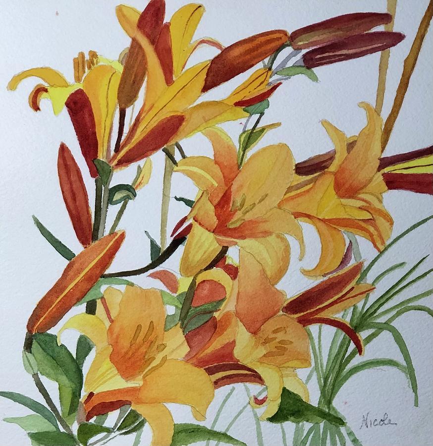 Golden In The Garden Painting