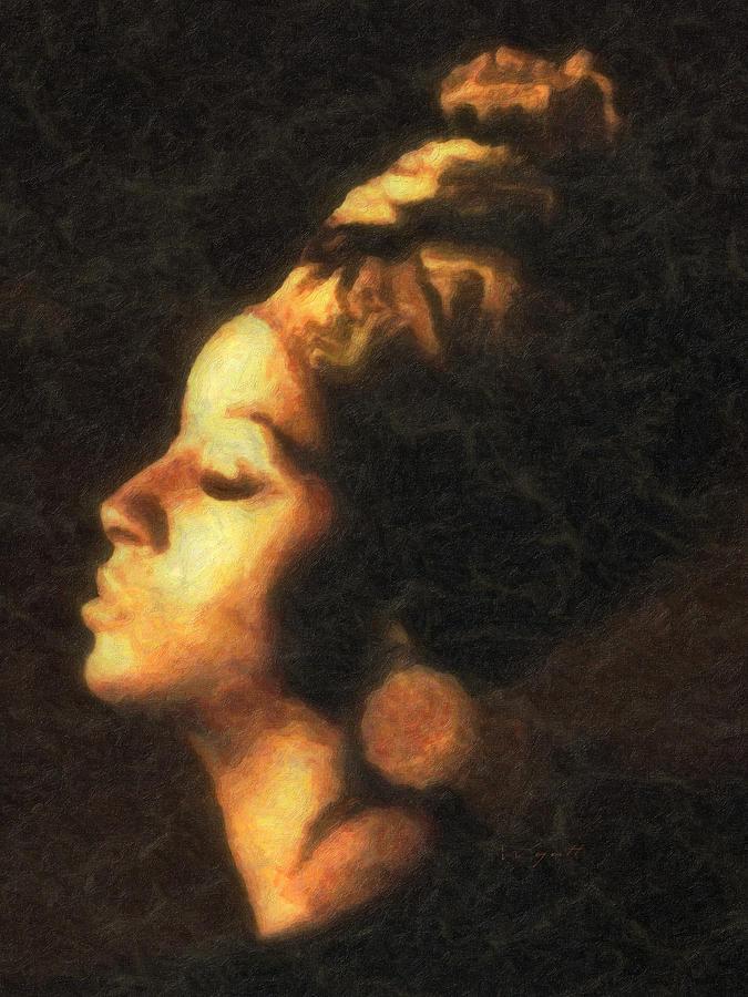 Golden Woman Digital Art - Golden Lady by Regina Wyatt