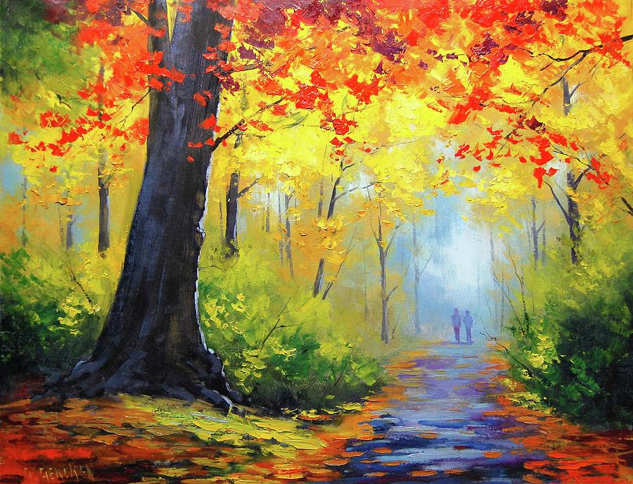 Fall Painting - Golden Landscape by Graham Gercken