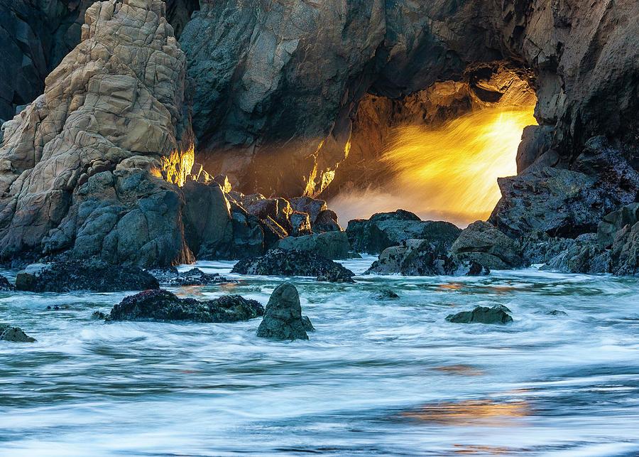 Golden Light - Big Sur Photograph