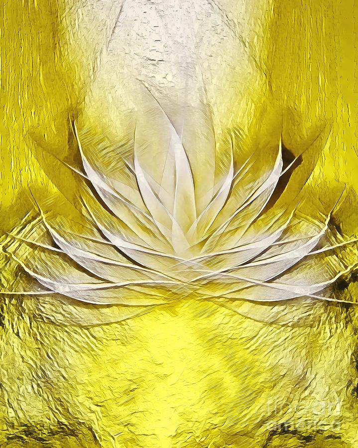 Golden Lotus Spirit Digital Art