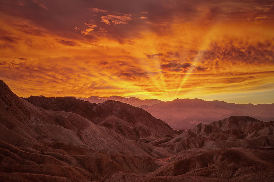 Golden Rays of Death Valley II by Jon Glaser