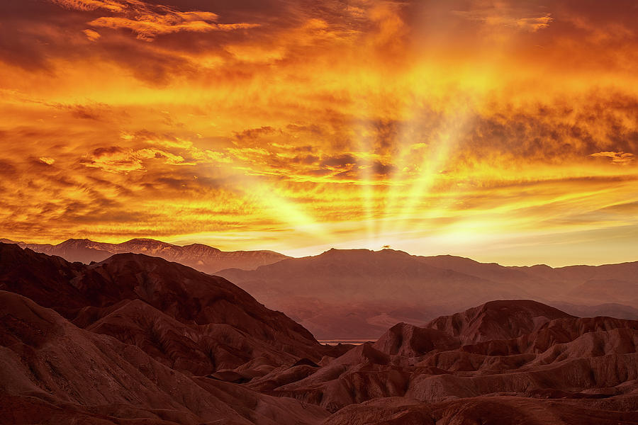 Golden Rays over Death Valley by Jon Glaser