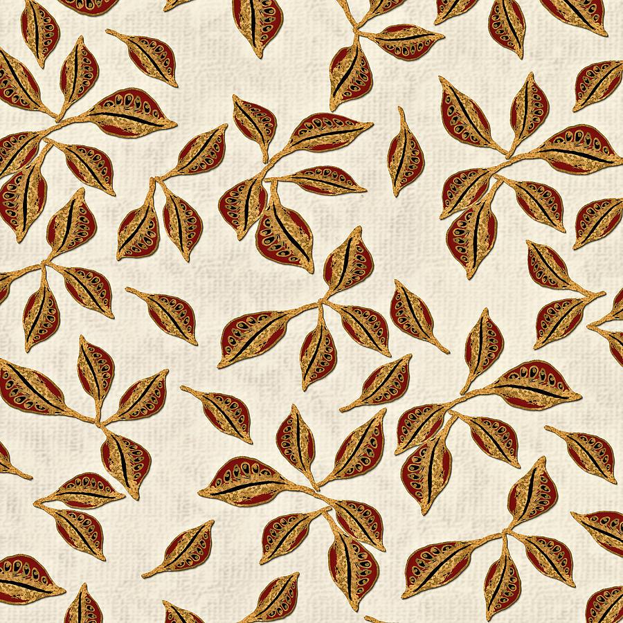 Golden Seed Pods Digital Art