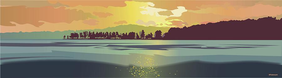 Lake Winnipesaukee Digital Art - Golden Spindle by Marian Federspiel