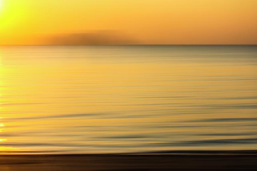 Golden Sunrise Seascape Photograph
