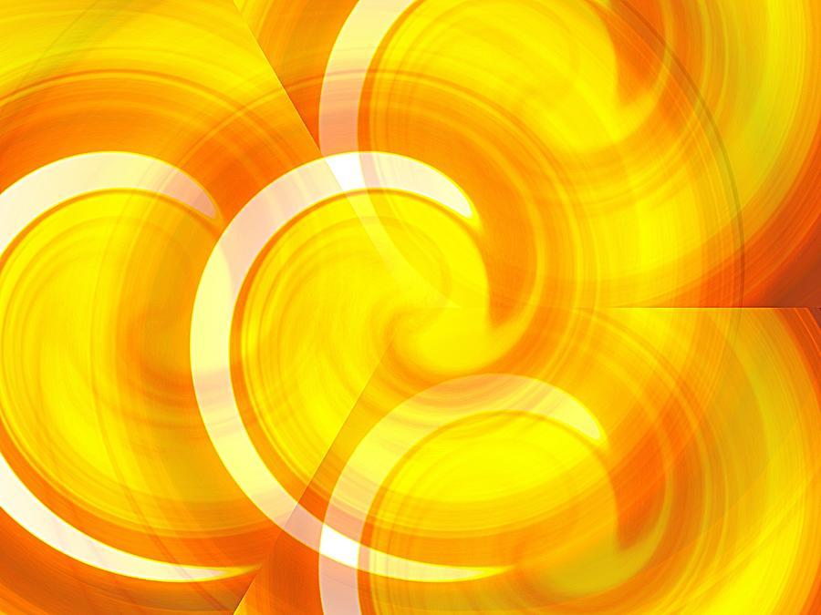Golden Sunset Illusion Mixed Media