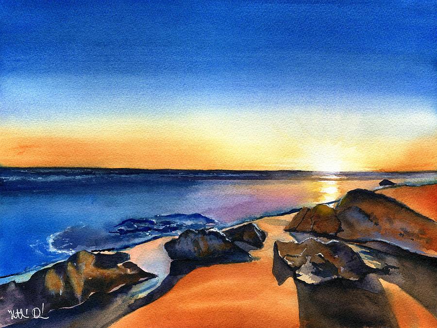 Golden Sunset in Algarve Portugal by Dora Hathazi Mendes