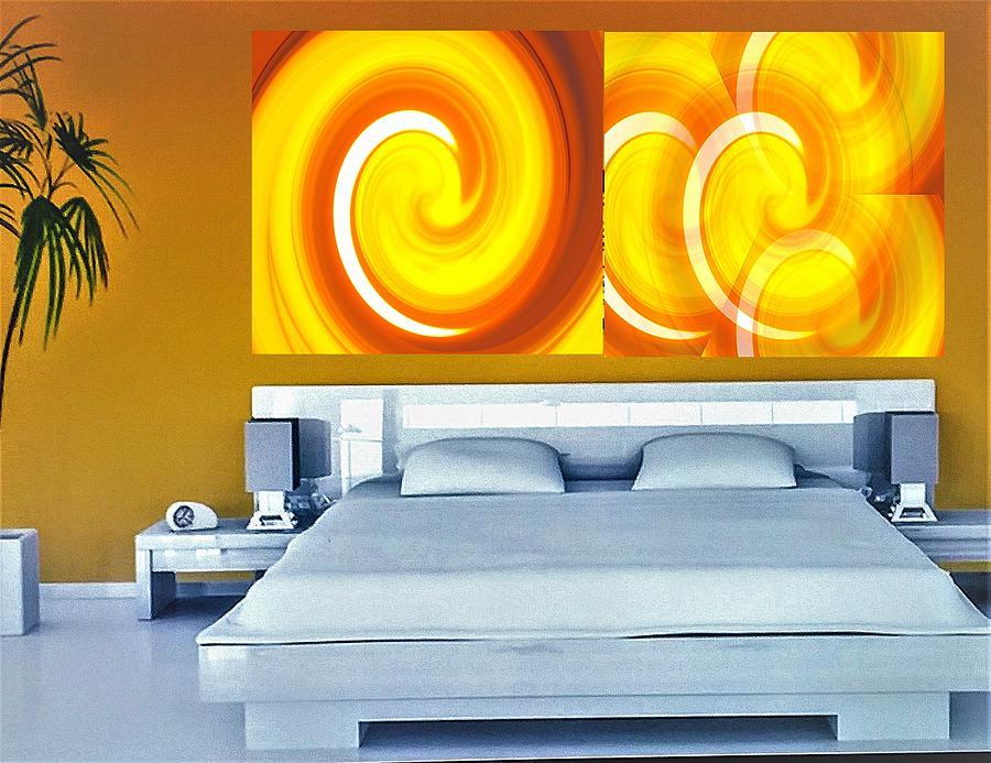 Golden Sunset Showcase Mixed Media by Emma Carter Brooks
