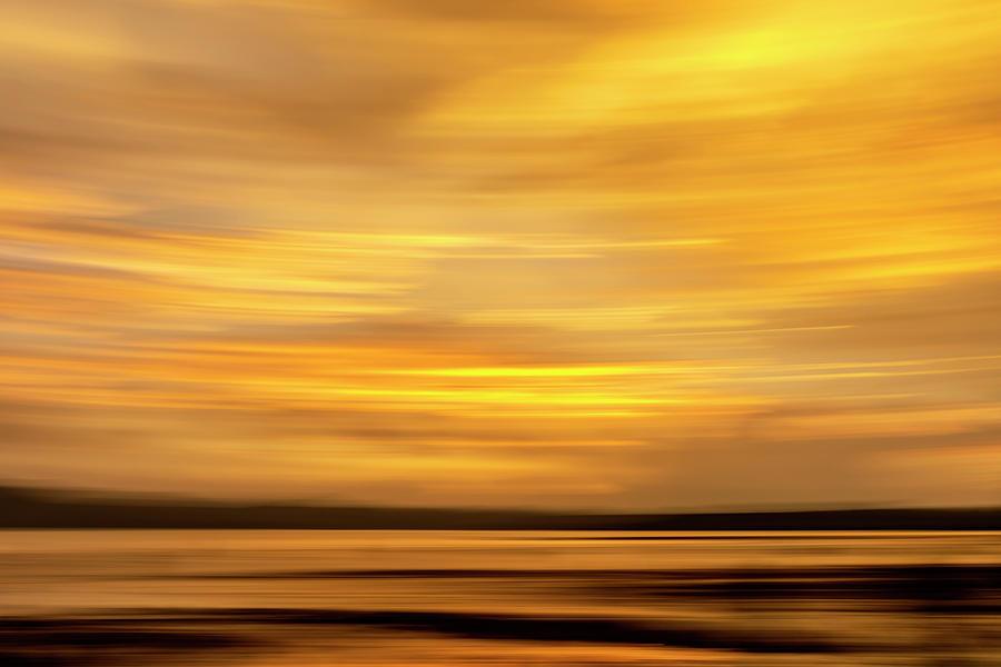 Golden Sunset Skies Photograph