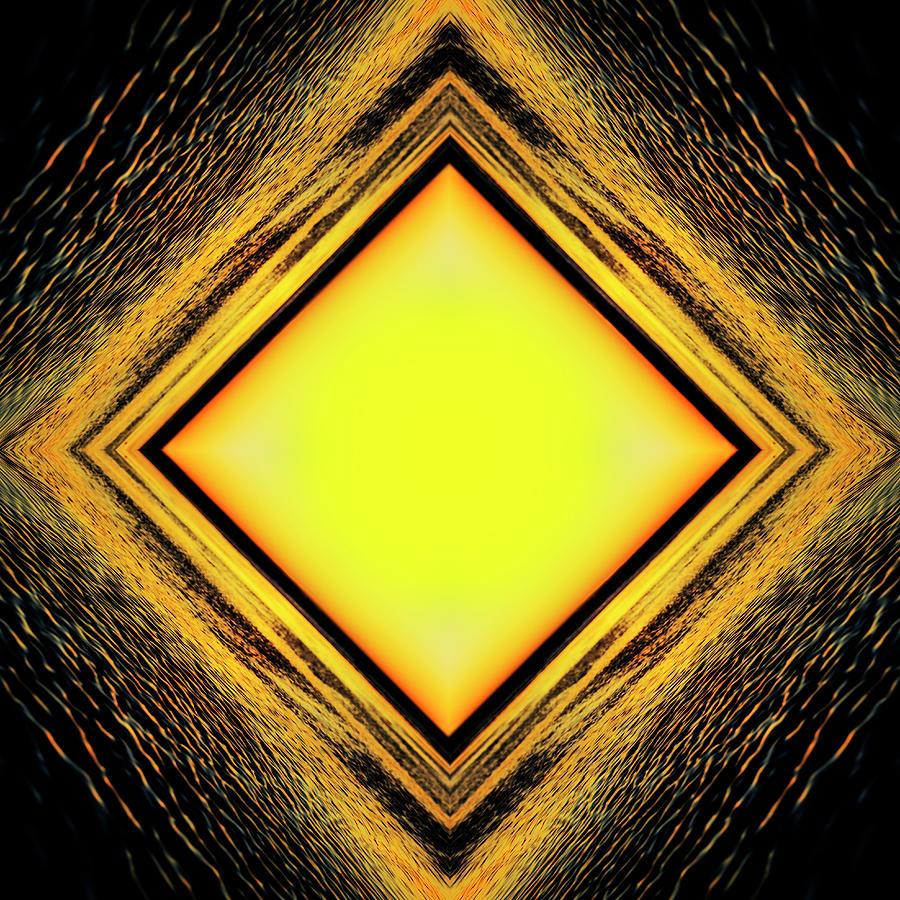 Golden Tunnel Digital Art