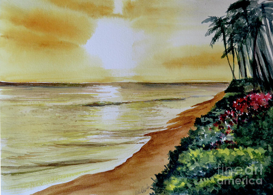 Golden Waves Painting