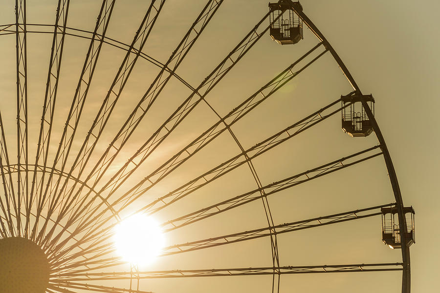 Wildwood Photograph - Golden Wheel by Kristopher Schoenleber