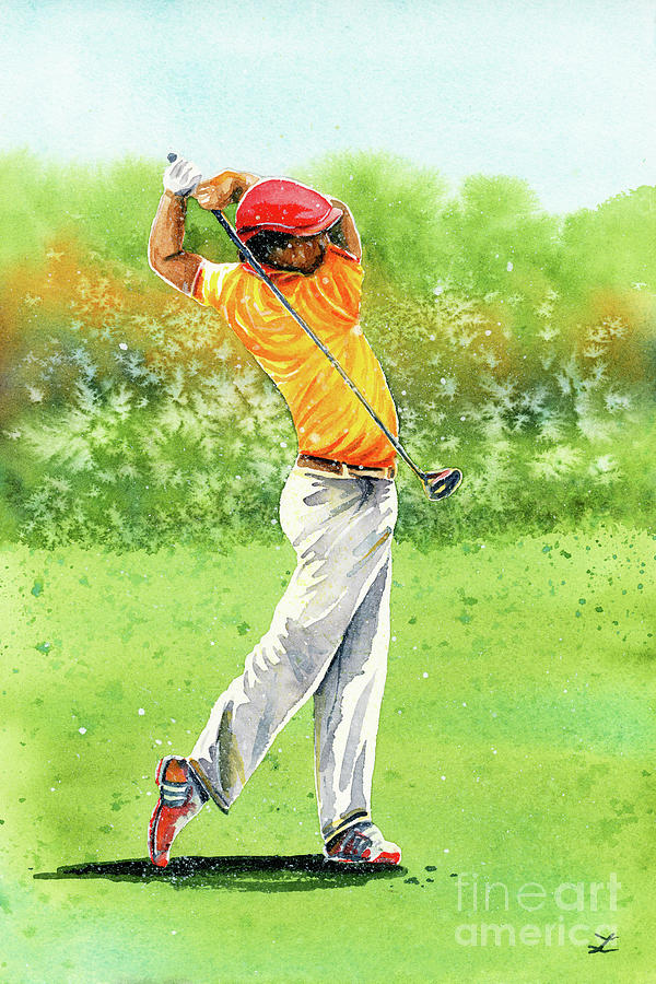 Golfer Painting