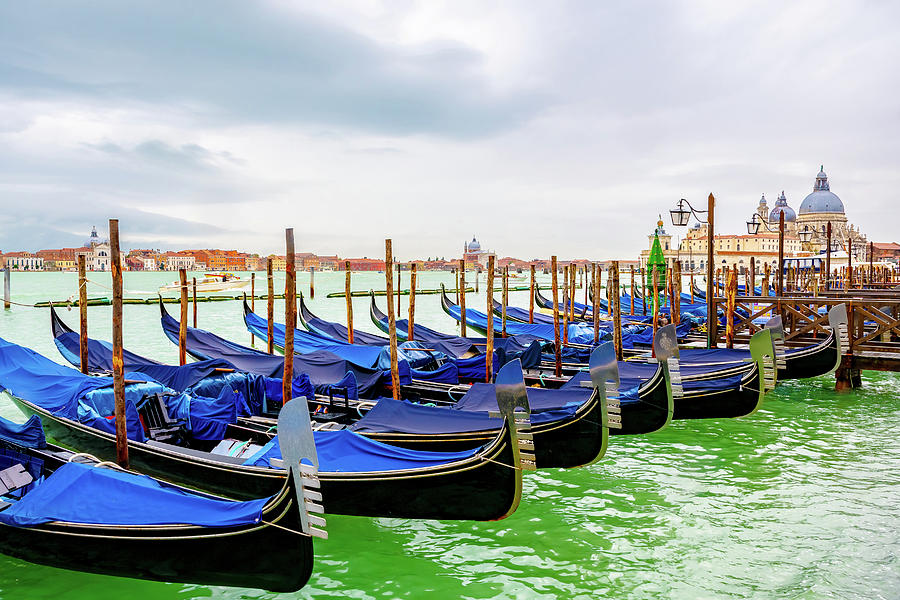 Gondolas in Venice, Italy -5- by Debbie Ann Powell