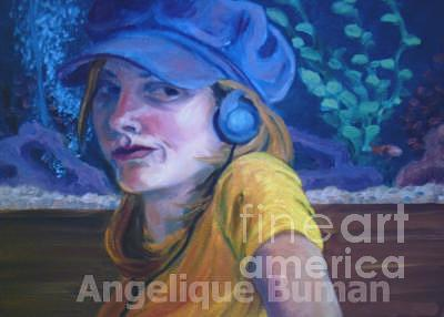Oil Painting - Gone Fishin by Angelique Bowman