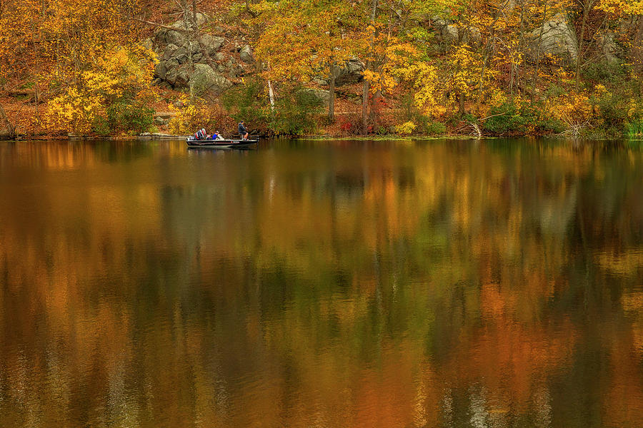 Gone Fishing In The Fall by Susan Candelario