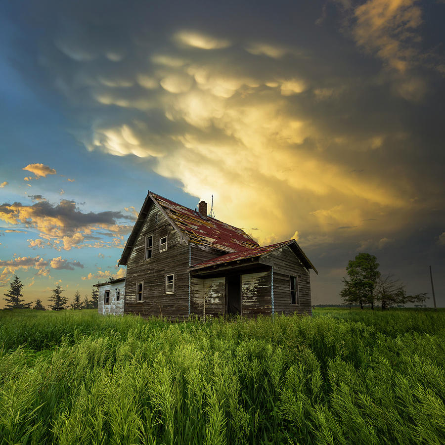 Abandoned House Photograph - Gone With The Wind by Aaron J Groen