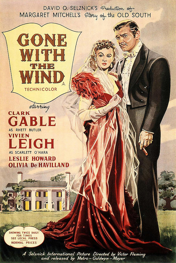gone With The Wind, With Clark Gable And Vivien Leigh, 1939-2 Mixed Media