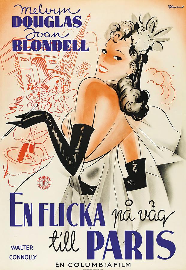 good Girls Go To Paris, 1939 Mixed Media