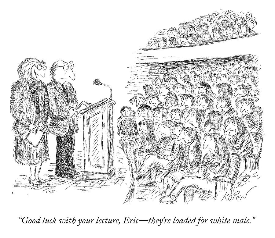 Good Luck With Your Lecture Drawing by Edward Koren