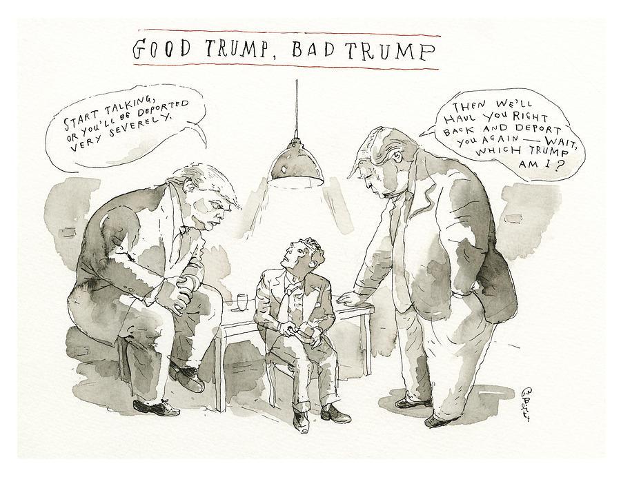 Good Trump, Bad Trump Painting by Barry Blitt