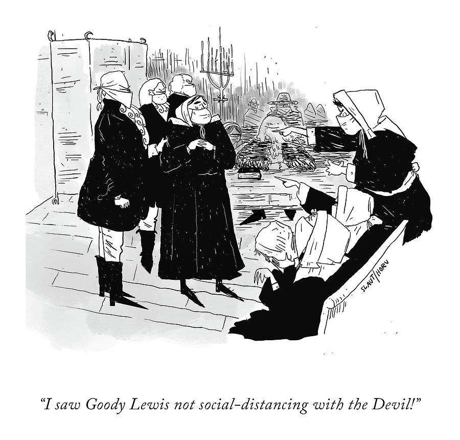 Goody Lewis and the Devil Drawing by Sara Laurtman