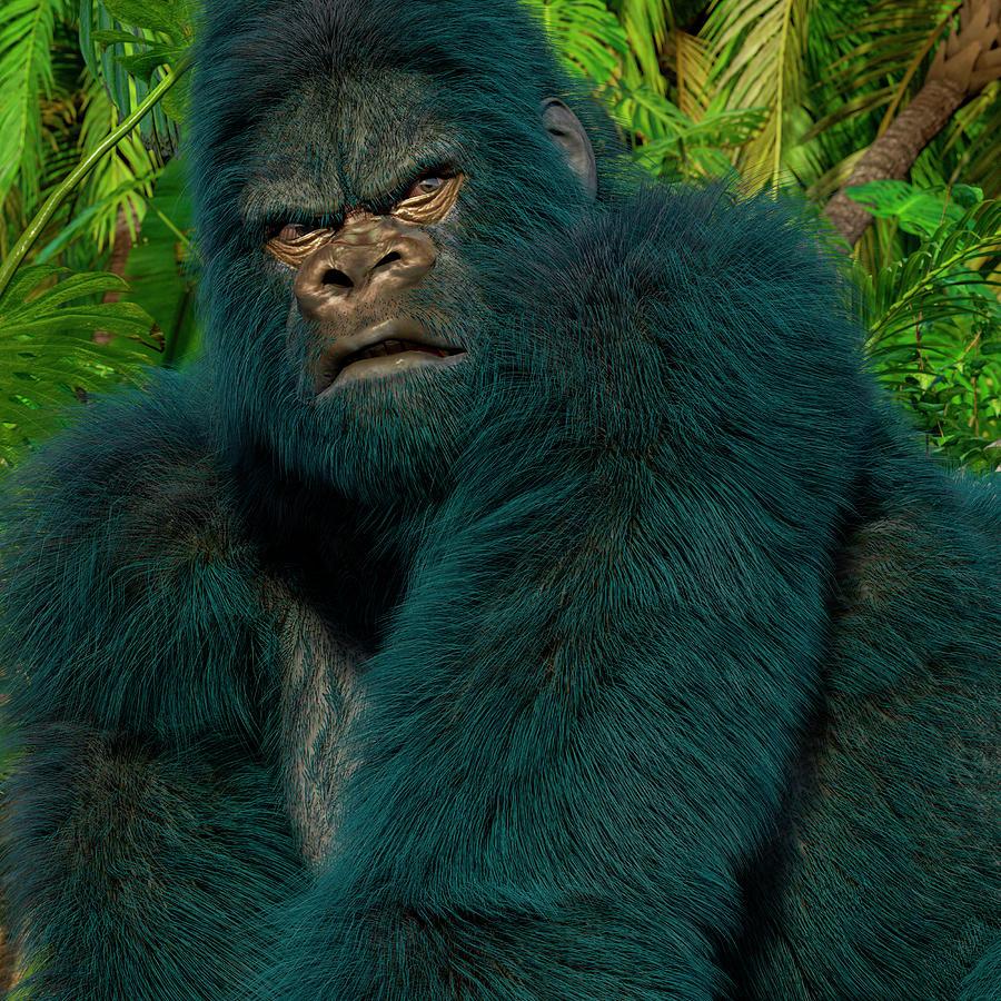 Gorilla Digital Art