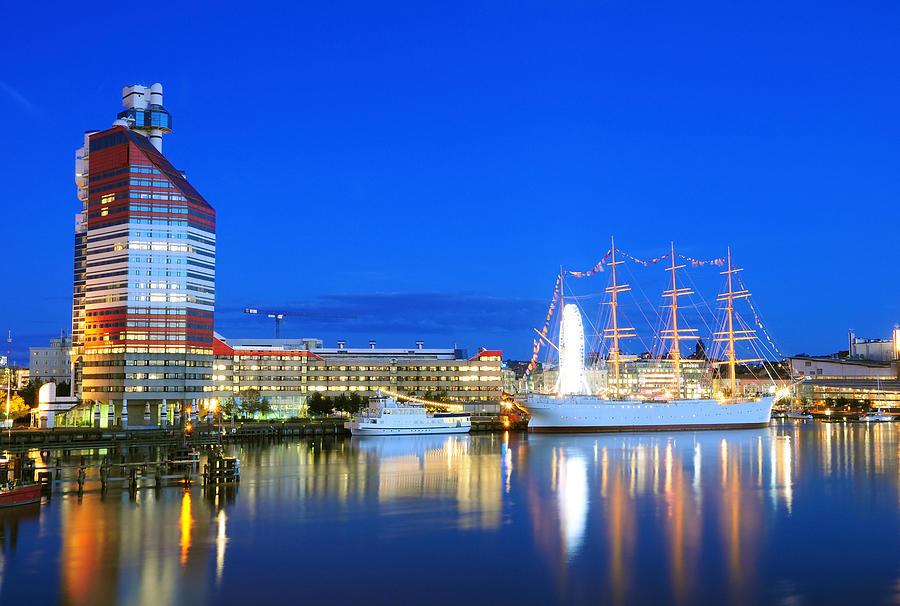 Gothenburg in Night Photograph by Nevereverro