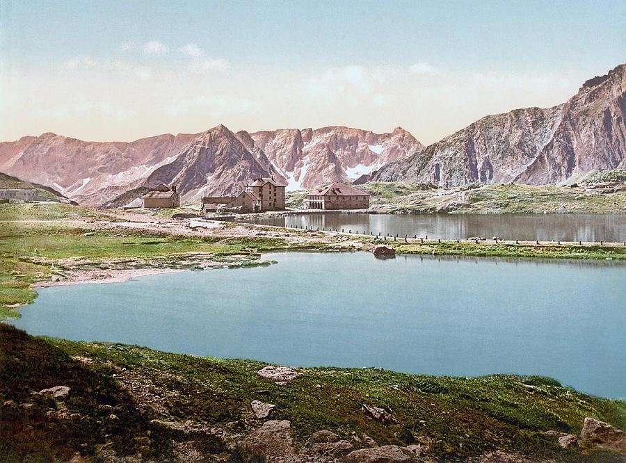 Gotthard Hospice, St. Gotthard Pass, Airolo, Leventina, Ticino, Switzerland 1890. Photograph