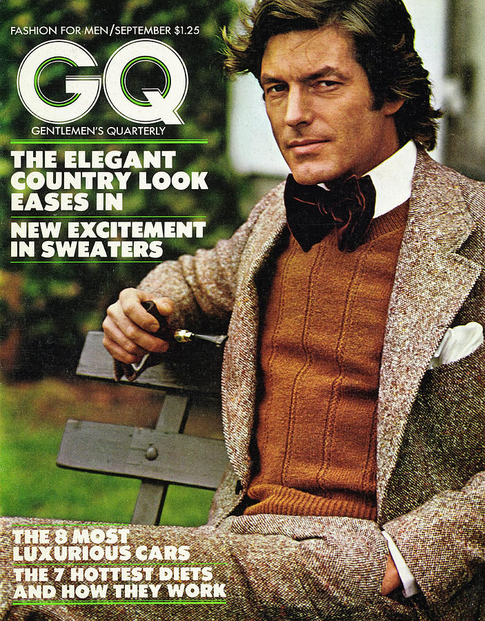 GQ Cover September 1973 Photograph by Stephen Ladner