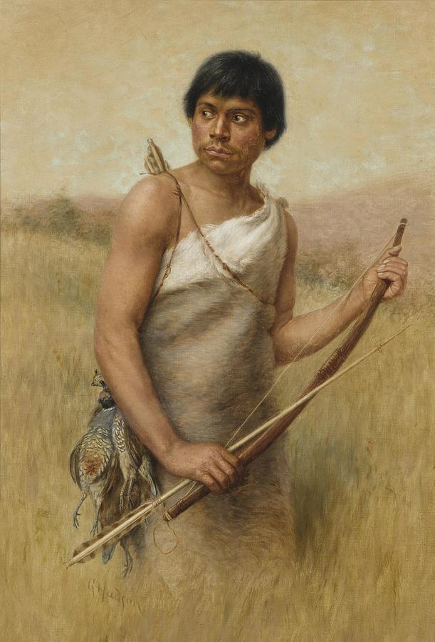 Grace Carpenter Hudson The Quail Hunter Painting